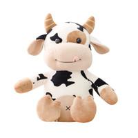 S - Boneka Sapi Imut Cute Stuffed Cow Toys - 30CM