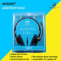 Headset Logitech H151 Jack 3.5mm Stereo Headphone Laptop - PC - HP