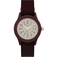 Women's Camper 29mm Red Case White Dial Red Fabric Strap - TW2T76900