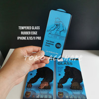 TEMPERED GLASS RUBBER EDGE KINGKONG/GORILLA PREMIUM IPHONE X/XS/11 PRO