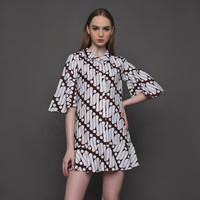 Batari Dress Tunik Wanita Batik Parang Klasik Kencana Pajajaran - S