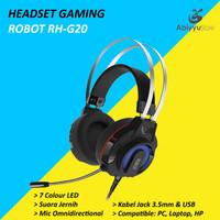 Headset Robot Gaming RH-G20 7 Colour LED Headphone Laptop - PC - HP