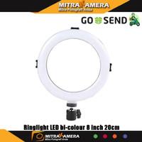 Ringlight LED bi-colour 8 inch 20cm