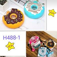 Botol Minum Anak Donut Donat 420ml Tali Panjang -Bottle Slicon Sedotan