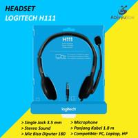 Headset Logitech H111 Jack 3.5mm Stereo Headphone Laptop - PC - HP