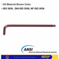 Kunci L Ball Extra Long 10 mm American Tool 8957746 10mm 10 milimeter