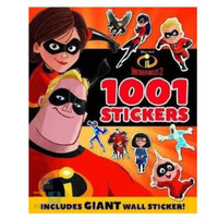 1001 STICKERS DISNEY PIXAR INCREDIBLES 2 Buku Stiker Anak Impor BBW