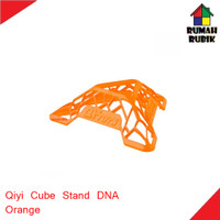 Dudukan Rubik Merk Qiyi DNA Orange / Cube Stand Qiyi DNA Orange
