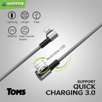 Hippo TOMS Kabel data gaming Iphone Lightning Fast Quick Charging