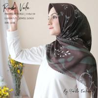 jilbab segiempat voal motif | Rimba Voal