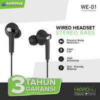 Hippo WE-01 Handsfree Earphone With Physical Noise Reduction