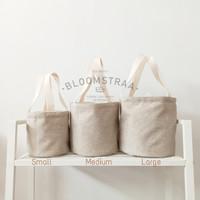 [ BURNET ] 50 pcs Hampers Bucket Bag Kanvas Jepang Tas Souvenir