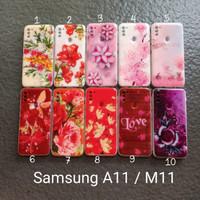 soft Case Samsung A11 . M11 motif gambar gliter bunga softcase