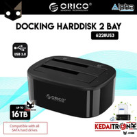 Docking Harddisk Double ORICO 6228US3 Dual Bay HDD 2.5 3.5 3.0 inch