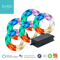 Paket Lampu LED Strip Plafon Atap Rumah 10 meter BARDI RGBWW + Adaptor