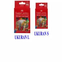 Pensil Warna Faber-Castell 12 Warna Classic Kecil & gede (L) - Ukuran