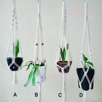 Macrame Plant Hanger 16 / Makrame Tali Gantungan Pot / Pot Gantung