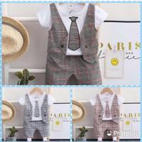 Baju anak laki-laki Setelan Import rompi dasi