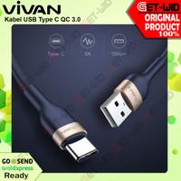 Kabel Data USB Type C Fast Charge 3A QC 3.0 VXC100 Original