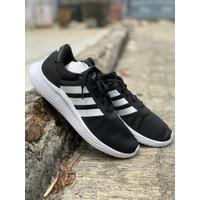 sepatu running Adidas Original LITE RACER 2.0 black white new 2020