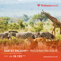 5D DAR EL SALAAM - TANZANIA PACKAGE UNTIL OCT 2021