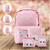 NC BR809 Tas Ransel Backpack Sekolah Anak Perempuan 4 in 1 Cantik