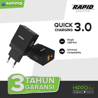 Hippo Rapid Adaptor Charger Quick Charge 3.0 Fast Charging 18W