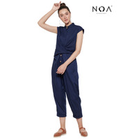 NOA everyday Yori Wrap Jumpsuit Navy