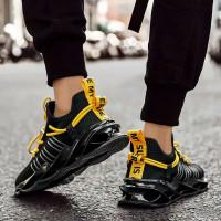 sepatu pria sneakers import 168-005 Series Sport (BISA COD) - Hitam, 40