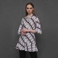 Brinet Blouse Tunik Batik Parang Klasik Wanita Kencana Pajajaran