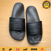 Sandal Slop Pria Wanita Thrasher Skate X Nike-Karet-Full Black