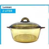 Luminarc Panci Masak kaca Vitro Amber Casserole Tutup 2 liter 2L