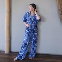 PIYAMA TIE DYE SET (SHIBORI BLUE)