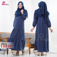 DRESS LODYA - Longdress Wanita Gamis Maxi Dress MiuLan Original