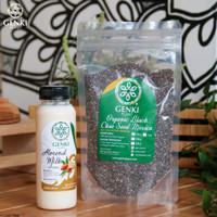Paket Organic Chia Seed Mexico - 250 g + Almond Milk Original - 250 ml