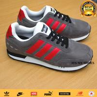 Sepatu Adidas Neo City Racer-Import-Grey-Abu Merah