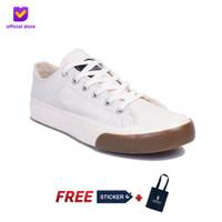 Sepatu Pria Sneakers Vulcanized Footstep Footwear - Earth Classic WHT