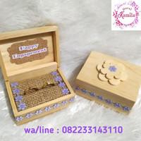 box tempat cincin kotak kayu rustic buat lamaran nikah