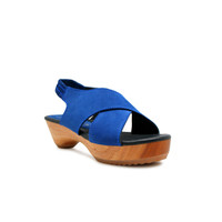 CLOGS Edelweiss - Blue Nb 4cm