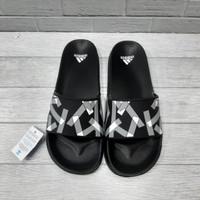 Sandal Pria Adidas Hitam Abu Free Paper Bag Grade Original 03