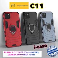 Realme C11 Case iron Armor iRing - casing cover RealmeC11 C 11