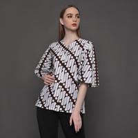 Bunga Blouse Batik Parang Klasik Wanita Kencana Pajajaran