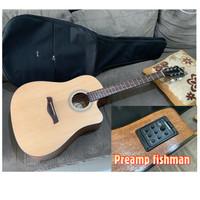 Gitar Cowboy GWC-240NA original upgrade preamp fishman Bonus softcase