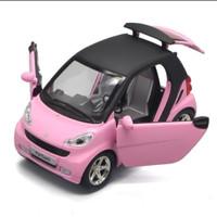 Diecast miniatur mobil Benz smart Fortwo 1:32 kualitas premium