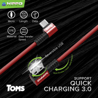 Hippo TOMS Kabel data gaming Micro USB Support Fast Quick Charging