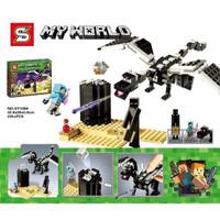Main Lego Brick Minecraft mine craft ender dragon naga terbang sy1269