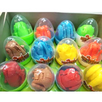 telur dinosaurus transparan mainan anak anak