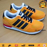 Sepatu Adidas Neo City Racer-Import-Grey-Yellow Black