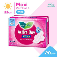 Laurier Active Day X-tra Pembalut Wanita Wing