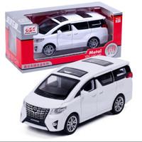 Diecast miniatur mobil Toyota Alphard 1:32 kualitas premium